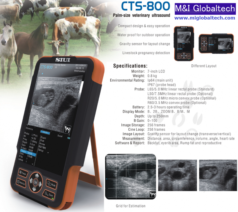 M Amp I Globaltech Inc Ultrasound Siui Cts 800 in Stock